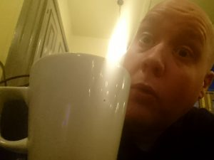 Me and a coffee cup