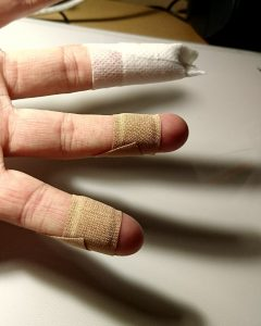 Bandaged fingers