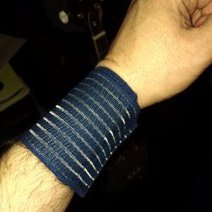 My arm in a wrist wrap